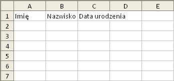 Excel: przykład 1